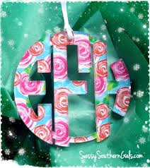 monogram ornament lilly pulitzer inspired patterns