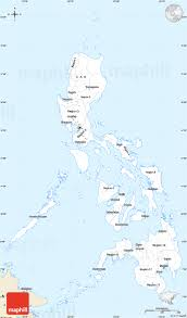 Philippine Map Classic Style Simple Map Of Philippines