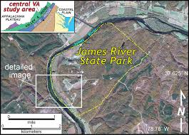 Virginia State Parks Map Summer Solstice In The Field A River On Rock The William U0026 Mary