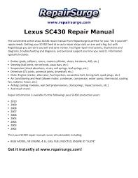 lexus sc430 repair manual 2002 2010 by kevin green issuu