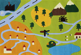 kids arte espina map rug modern hand tufted