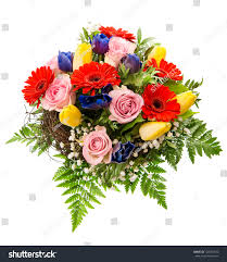 Image Of Spring Flowers by Closeup Colorful Spring Flowers Bouquet Isolated Stock Photo