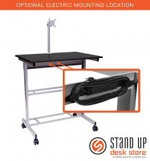 40 Computer Desk Adjustable Stand Up Desk With Monitor Mount Stand Up Desk Store