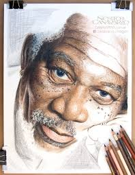 my 50 hour high detail drawing of freeman in color pencils