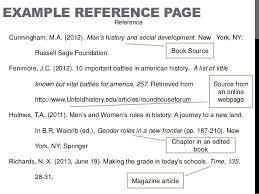 references page template writing reference page using apa style lessons tes teach