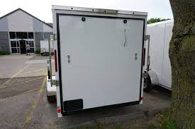 enclosed trailer exterior lights white 6 x 12 enclosed cargo trailer buy rent iowa city cr ia