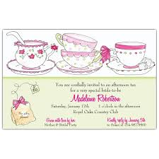 bridal tea party time for tea party bridal shower invitations paperstyle