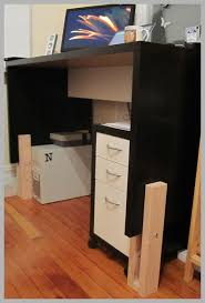 Make A Standing Desk by Make A Standing Desk From An Ikea Mikael