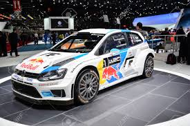 volkswagen race car volkswagen polo r wrc world rally car on display during the geneva