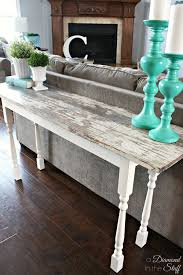 Small Desk Next To Sofa Best 20 Diy Sofa Table Ideas On Pinterest Diy Living Room Diy