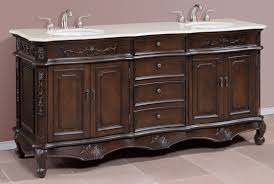 72 inch brown double bath vanity with white quartz top