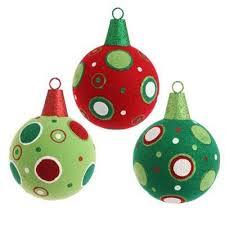 raz 6 snowdoodles flocked glittered green polka dot