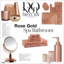 rose gold bathroom decor polyvore