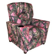 Recliner With Cup Holder Dozydotes Contemporary Rocker Recliner Camouflage Pink Hayneedle