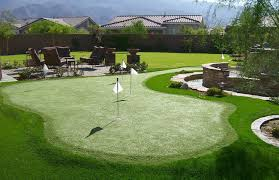 backyard putting green lighting artificial grass putting greens phoenix az sunburst landscaping