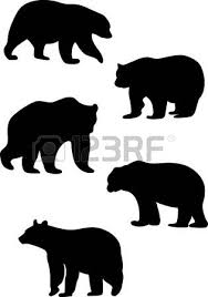silhouettes bears royalty free cliparts vectors stock