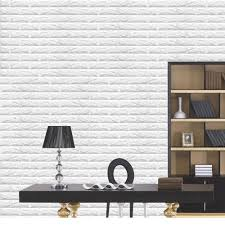 Wood Wall Stickers by Amazon Com 5pcs White 3d Brick Wall Stickers Self Adhesive