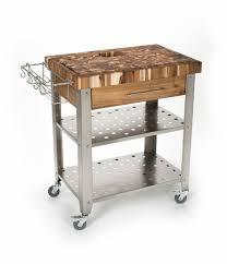 chris u0026 chris acacia wood stainless steel kitchen cart 30