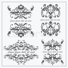 set luxury logos template flourishes calligraphy ornament