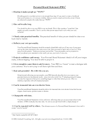 resume personal statement sample resume personal statement examples template value statement examples for resumes