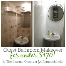 Can You Paint A Fiberglass Bathtub Remodelaholic Painted Bathroom Sink And Countertop Makeover