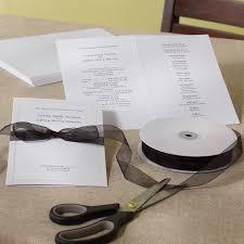 diy wedding programs kits hartford wedding program paper kit diy wedding programs