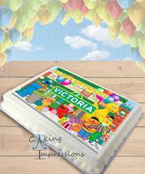 sesame cake toppers sesame edible image cake topper sheet preschooler