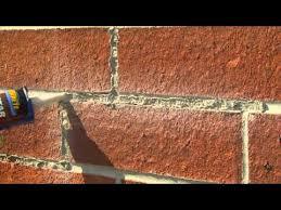 How To Paint A Brick Wall Exterior - how to tuck point mortar joints with mortar repair with quikrete