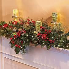 improvements indoor outdoor lighted christmas garland improvements merry and bright lighted mantel christmas swag 6