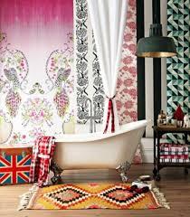 Coolest Bathrooms Coolest Bathrooms Pattern Combos 36 Bright Bohemian Bathroom