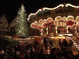 frankfurt with germany u0027s largest christmas tree escorted