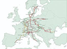 European Rail Map by European Rail Traffic Management System