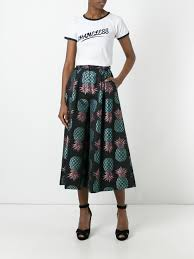 Pineapple Trend by House Of Holland Pineapple Culottes Black Multi Women Clothing