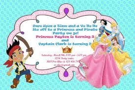 doc pirate princess party invitations u2013 princess and pirate or