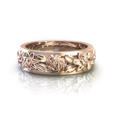 floral wedding band floral wedding rings
