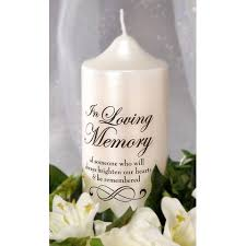 memorial candle in loving memory candle decal diy memorial candle wedding