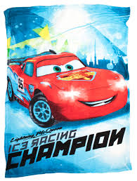 disney cars lightning mcqueen coral fleece blanket winter bed