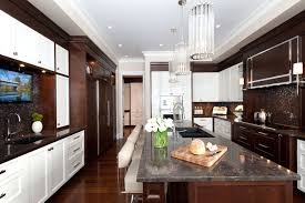 brown and white kitchen cabinets transitional kitchen traditional kitchen other by atmosphere