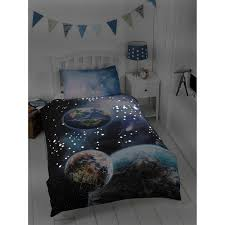 Space Bed Set 306627 Space Single Duvet In Dark1 Bed Sets Glow The Set