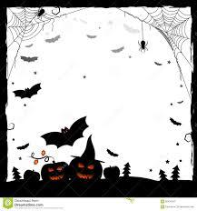 festive illustration for halloween black and white frame stock