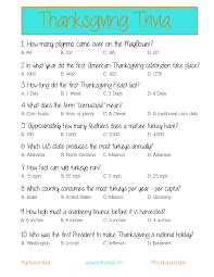 thanksgiving trivia a printable for your gathering the