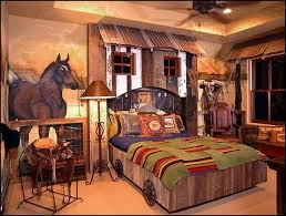 Rustic Themed Bedroom - decorating western style interior design