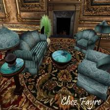 Striped Living Room Chair Second Marketplace Venezia Turquoise Striped Living Room Set
