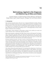 methodology applied to the diagnosis and monitoring of dikes and