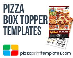 pizza box toppers design and print templates