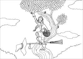 garden witch coloring free printable coloring pages