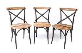 chaise m tal industriel chaise bistrot industrielle vieux bois chaises en mtal ma dans