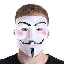 anonymous mask anonymous mask white