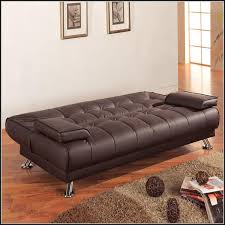 Tufted Faux Leather Sofa by Faux Leather Convertible Sofa Centerfieldbar Com