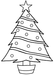 christmas tree coloring page printable christian coloring pages
